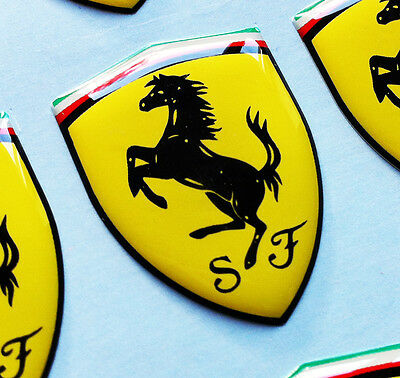 FERRARI SHIELD 3D domed sticker badge 60x44mm