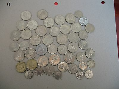 Lot of Old Circulated Canadian Coins