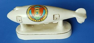 Arcadian China Crested Ware. WW1 Super Zeppelin. Crest of Ilkley.