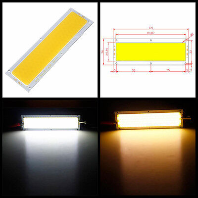 10W COB LED Panel  Lámpara Blanco Rectángulo Tira Coche LED Luz 12V-24V 1000LM