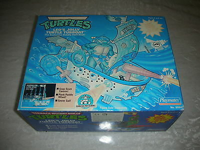 Turtles Leo's Jolly Turtle Tubboat Playmates 1989 Nuovo!