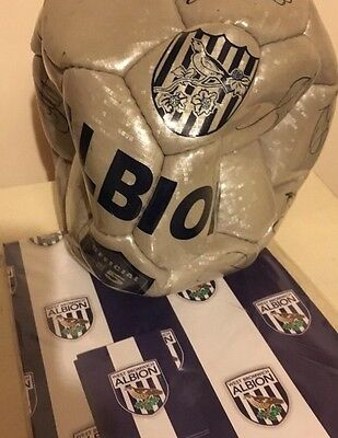 West Bromwich Albion  Autographed Football Albion Baggies Signed