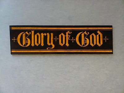 Beautiful Stained glass.INSCRIPTION. Hand painted. Kiln fired.210 x 58 mm. New.