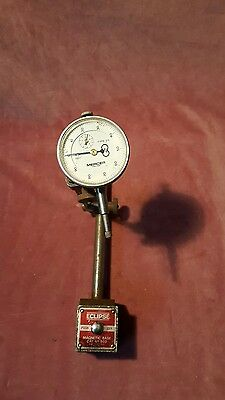 Eclipse Magnetic Base Micro Adjustment Dial Gauge. Engineers Tool Lathe