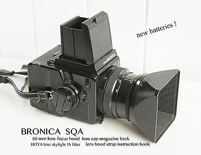 ZENZA BRONICA SQ-Ai Camera including 80mm lens, hood, filter and more.......
