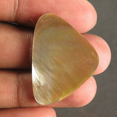 Natural Rare MOTHER OF PEARL SHELL 29x21 mm FANCY CABOCHON Gemstone 14.90 Cts