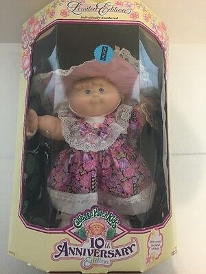 "Cabbage Patch Kids 10th Anniversary Limited Edition 16"" Doll ""Zora Mae"" 1992 NIB"