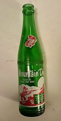 """Rare (Style 1-One Side) Canadian  """"mountain Dew"""" 10 Oz """"filled By Clem And Gert"""""""