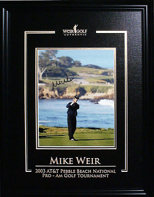 Mike Weir - Signed & Framed 8x10 Etched Mat - 2003 Pebble Beach
