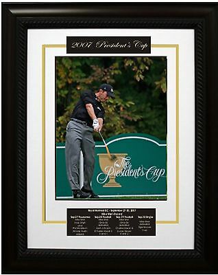 Mike Weir - Signed & Framed 8x10 Etched Mat - 2007 Presidents Cup