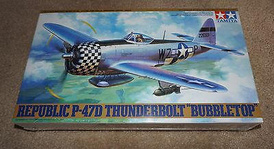 "Tamiya Republic P-47D Thunderbolt ""Bubbletop"" 1/48 #61090 Factory Sealed"