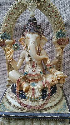 Ganesh ~ Hindu God ~ Ganesha Statue ~ Idol ~ 27.5 cm High ~ New ~ Great Colours