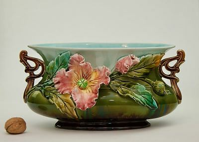 Superb French Antique Oval Jardiniere Onnaing, Fives Lille c1890