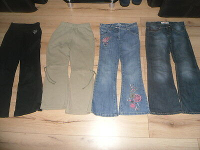 4 Pairs of Girls Jeans / Jogging bottoms 8-9 years inc Lee Cooper, TU