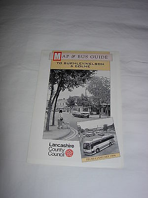 Bus Map and Guide to Burnley, Nelson and Colne January 1994