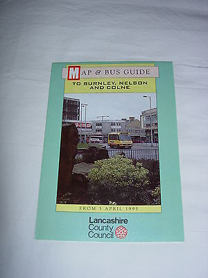 Bus Map and Guide to Burnley, Nelson and Colne April 1995