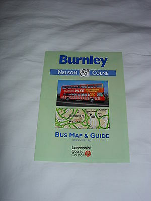 Bus Map and Guide to Burnley, Nelson and Colne November 1997