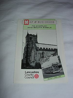 Bus Map and Guide to Chorley and South Ribble April 1993