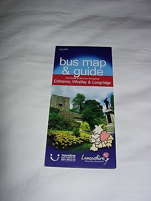 Bus Map and Guide to Clitheroe, Whalley and Longridge July 2008