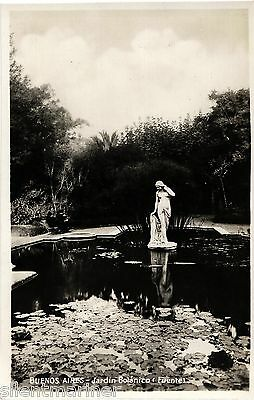 Buenos Aires, Jardin Botánico, (Fuente), b+w RP postcard, unposted