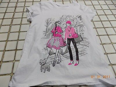 The Children's Place Girls Cute  Graphic T-shirt Size M 7/8; EUC!