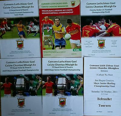 Mayo GAA Job Lot (6) Various Club Final Programmes