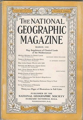 National Geographic - March 1940 - Modern Odyssey in Classic Lands.