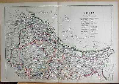 1860  Large Antique Map - India North