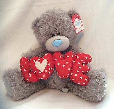 """Me To You Bear Holding The Word Love - 10"""" Plush - Brand New"""