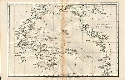 1808 Antique Map- Arrowsmith- Chart Of The Pacific Ocean