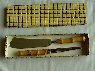 Vintage Cheese Knife Set Stainless Steel with cane handles