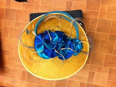 Beautiful Wedding special Occasion Hatinator  blue & turquoise
