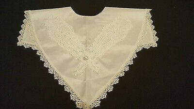 white embroidered collar