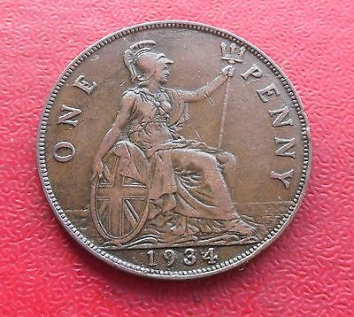 1934 Penny, George V. Great Condition.