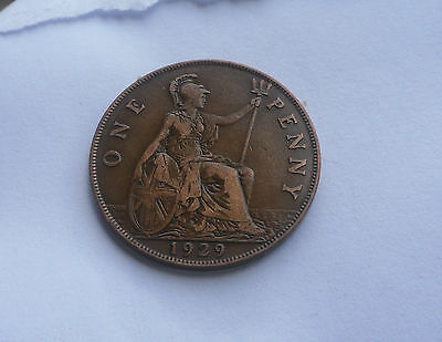 1929 Penny, George V. Good Condition.