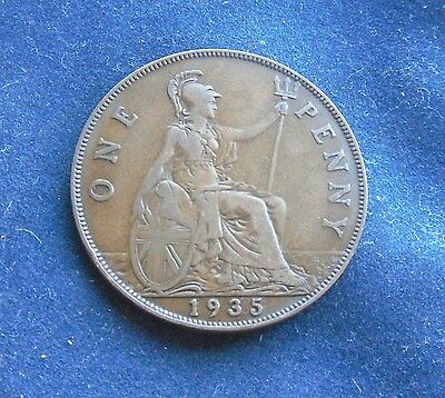 1935 Penny, George V. Good Order.