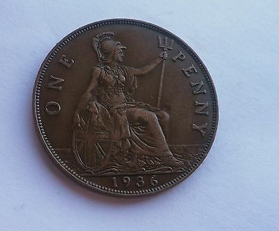 1936 Penny, George V. Great Condition.