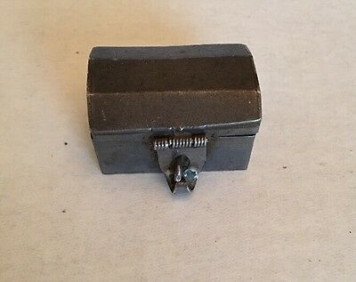 Sterling Silver 925 Mexico Hinged Box Trinket Pill 27 g - Treasure Chest