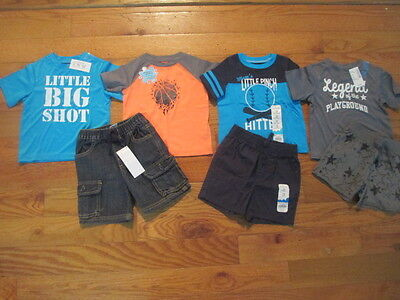 7 piece LOT of baby boy spring/summer clothes size 12 12-18 months NWT