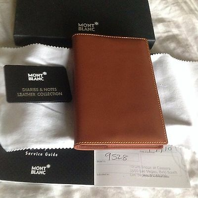 New Montblanc Diaries & Notes Book Sellier Medium Mind Brown Chocolate Leather