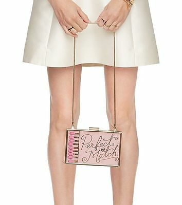 Kate Spade New York Bride Wedding Belles PERFECT MATCH Clutch Handbag Bag Pink