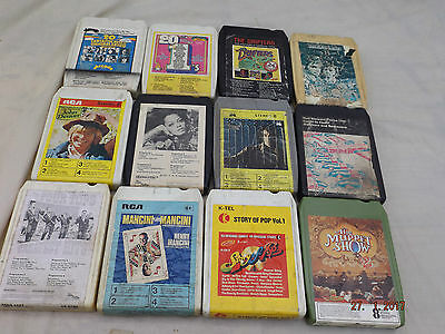 8 Track Cassette Tapes,12 Titles,four Tops,henri Mancini,rod Stewart +More,lot 4