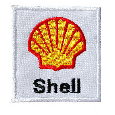Shell Oil Gass Petrol Motor Racing Speed Way Badge Patch Embroidery hotfix