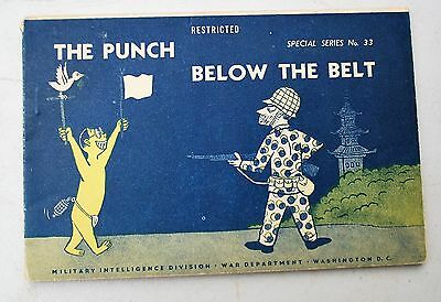 Punch Below the Belt Special WWII #33 1945 Military WAR DEPT. JAPANESE DECEPTION