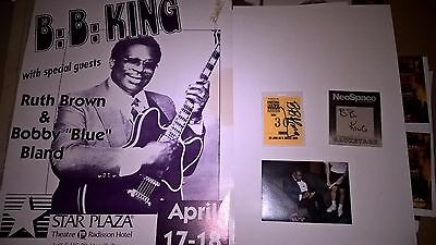 BB KING and Bobby Blue Bland and Ruth Brown Poster & Autograph Laminate Backstag