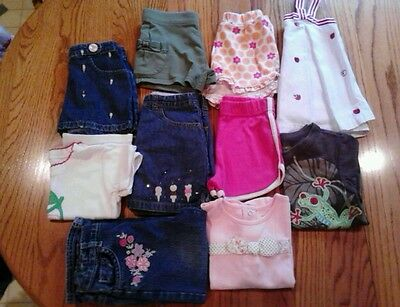 10 Piece Lot Toddler Girls Size 3 & 3T Spring Summer Brand Name Clothes Euc