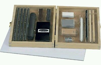 26 Piece Set.charcoal Set in wooden Box. Arts And Craft new