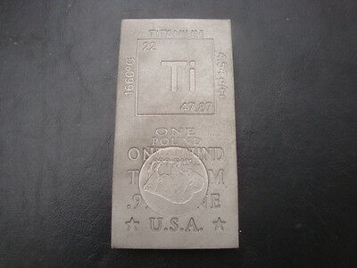 Titanium .999 Fine Bullion Miss Striked Errors Bar 1 Pound 1#