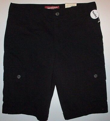 ARIZONA Boys Cargo Shorts sz 14H Husky Black NWT