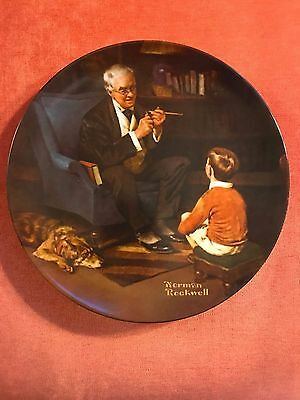 """The Tycoon"" Norman Rockwell Heritage Collection Plate #AA17939 (3)"